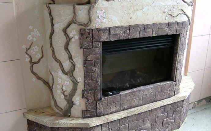 Декоративная отделка каминов: воспользуемся штукатуркой | otdelka