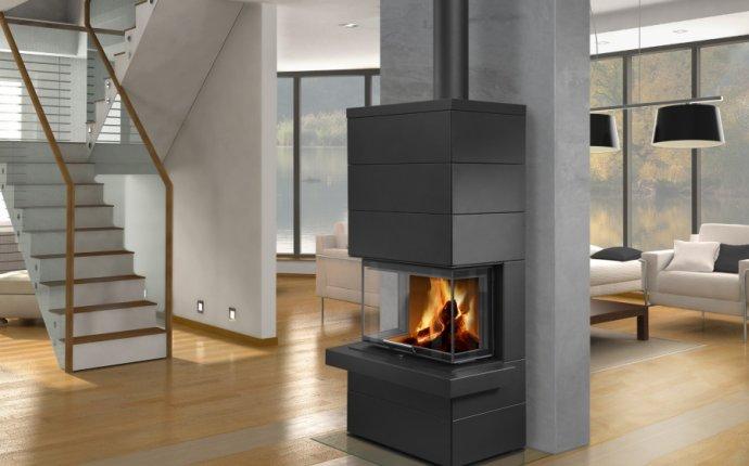 Дизайнерская аккумуляционная каминная печь Romotop CARA C 03