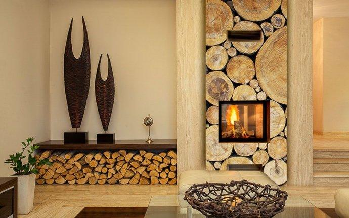 Фотообои камин дерево