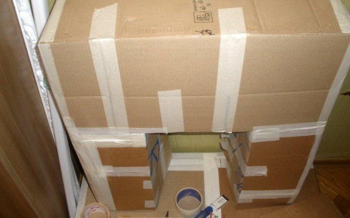Как сделать фальш-камин из коробок своими руками