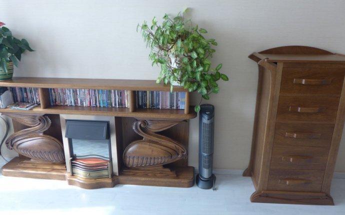 Купить Камин - коричневый, комод, камин, подставка, мебель ручной